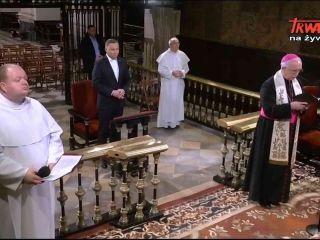 Prezydent RP Andrzej Duda z modlitwą błagalną na Jasnej Górze